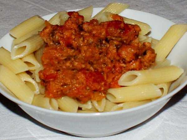 Penne thon tomate